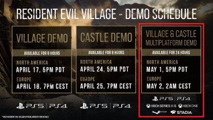 All PC, Steam, XBOX ONE Demo Schedule