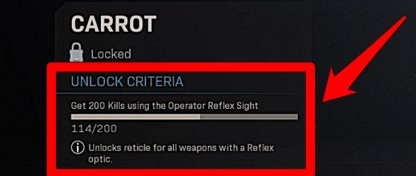 Unlock Reticles By Completing Challenges