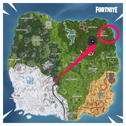 North East End Of The Map Near Sunny Steps MAP