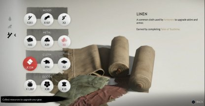 Rewarded Linen As Tales Of The Tsushima Side Quest Reward