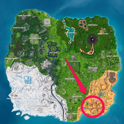 3 Dinosaurs - Southeast of Paradise Palms map