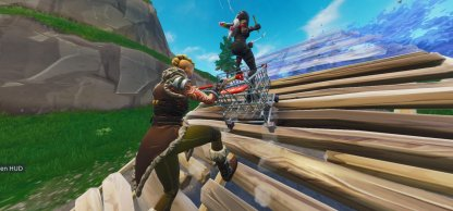 Shopping Cart Get to High Ground