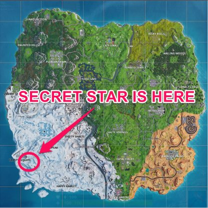 Fortnite Season 7 Week 1 Secret Battle Star Map