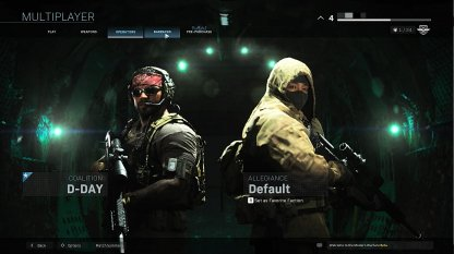 Customization Available In Multiplayer