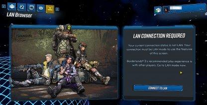 Option To Play In LAN Mode