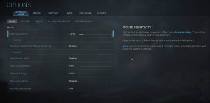 Adjust Mouse & Controller Sensitivity