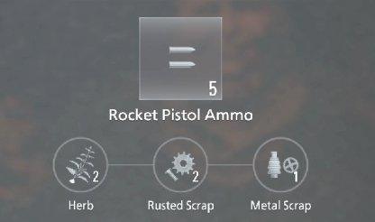 Rocket Pistol Ammo Recipe