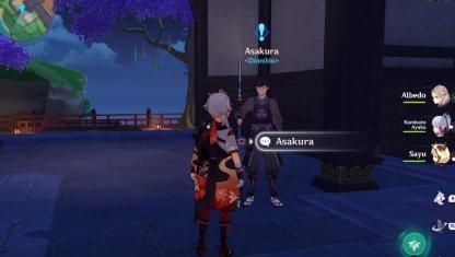 Talk To Asakura In Inazuma City