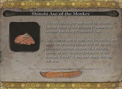 Shinobi Axe Of The Monkey Required To Craft