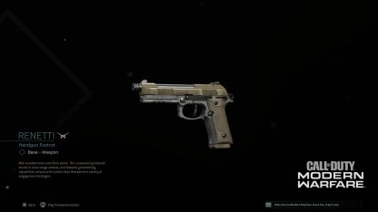 Season 3 Renetti Handgun