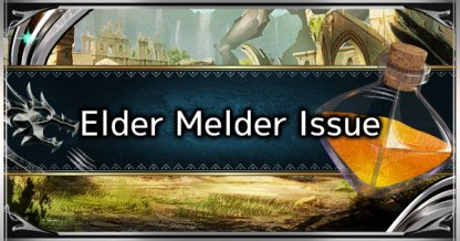 Elder Melder Jewel Drop Rate Issue