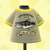 Fish-print tee