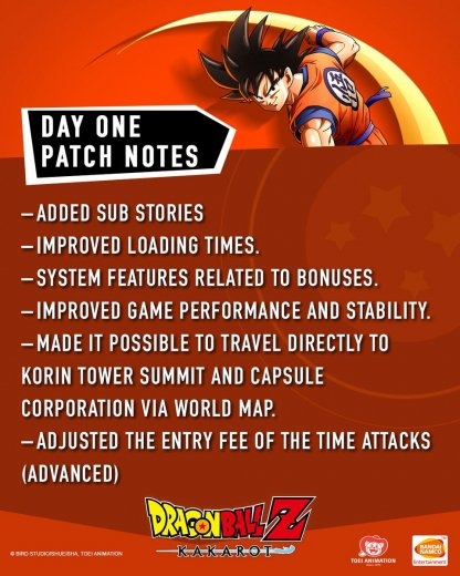 New Day 1 Patches Are Live!