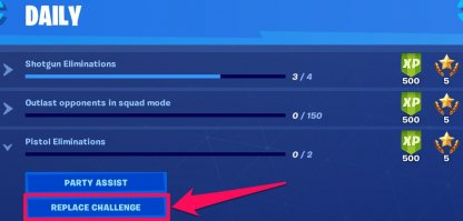 Replace Challenge Button