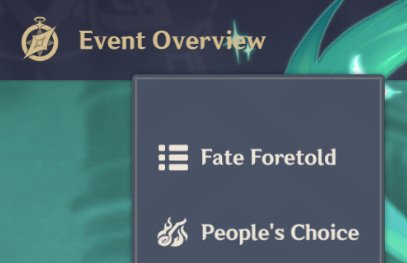 Check Your Progress At Event Overview Tab