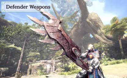 Easy-To-Craft, Upgradeable Defender Weapons