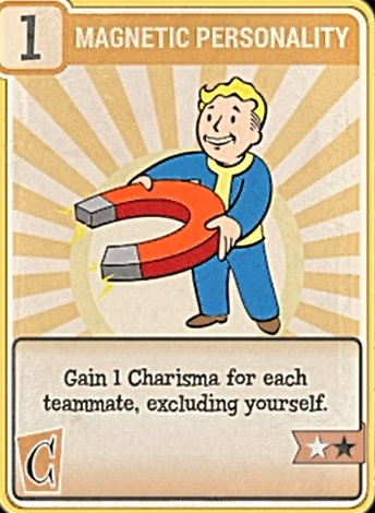 Fallout 76 Perk Card Charisma Magnetic Personality