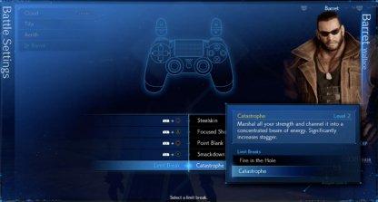 Configure Limit Breaks in Battle Settings
