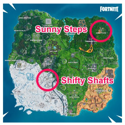 Sunny Steps / Shifty Shaft - Locations