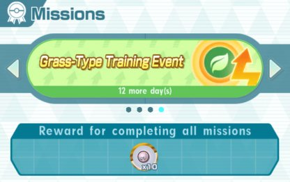 Grass-Type Training Event Missions