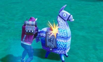 Use Pickaxe to Open Supply Llamas