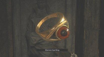 Maroon Eye Ring