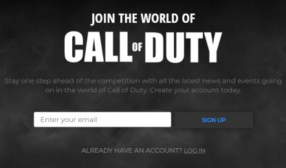 Create a CoD Account