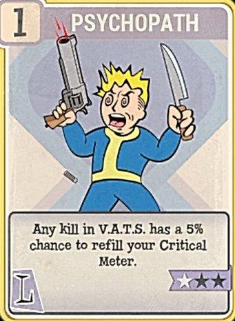 Fallout 76 Perk Card Luck Psychopath