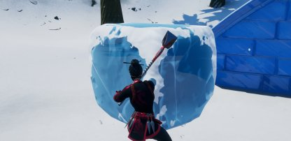 Use Pickaxe to Destroy Ice Boxes