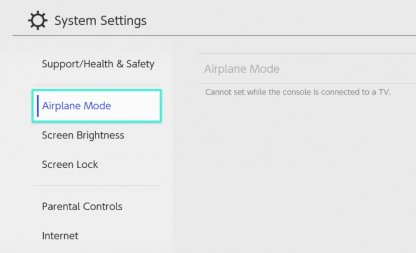 Make Sure Airplane Mode is Turned Off