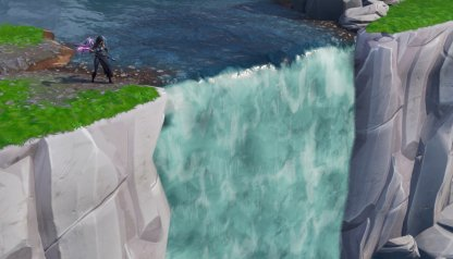 Fortnite Visit Different Waterfalls