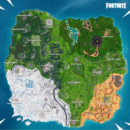 Fortnite Season 8 Map