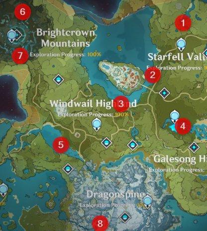 Mondstadt Fishing Locations