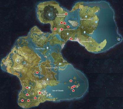 Magical Crystal Chunk Spawn Locations