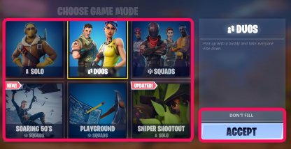 Select the Game Mode