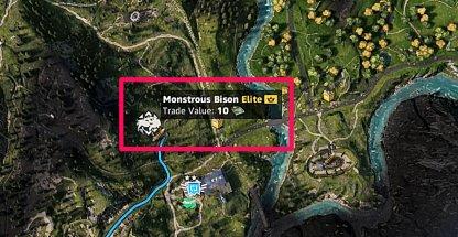 Monstrous Animal Monstrous Bison Location 2