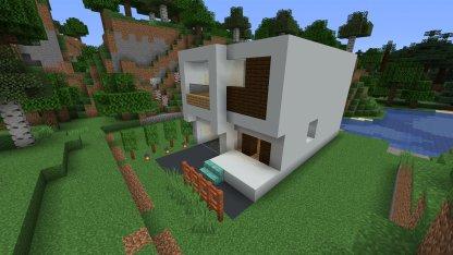 huge modern house