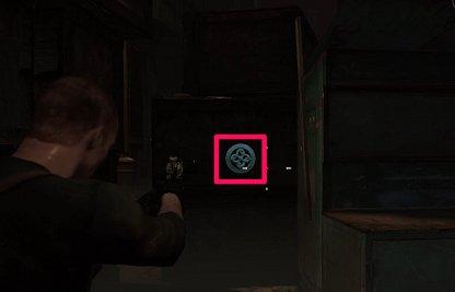Emblem Location 3 - Between Crates