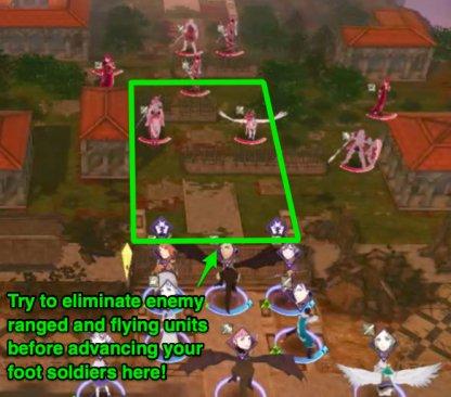 Beware of enemy ranged units!