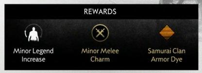 Legend Increase, Charm & Armor Dye