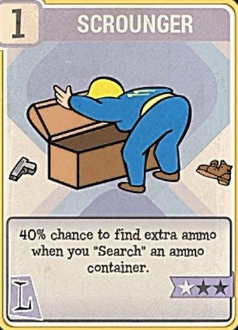 Fallout 76 Perk Card Luck Scrounger