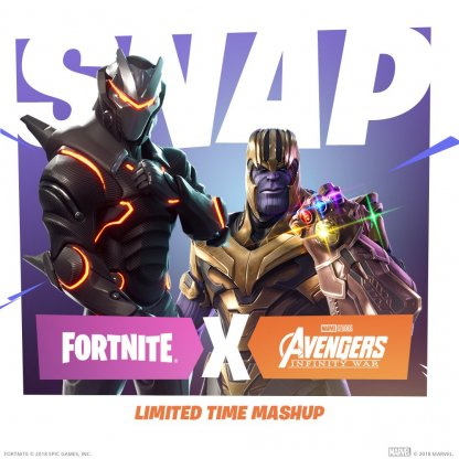Infinity Gauntlet & Thanos Added to Fortnite