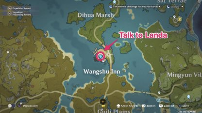 landa location