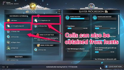Defeating Behemoths Reward Cells