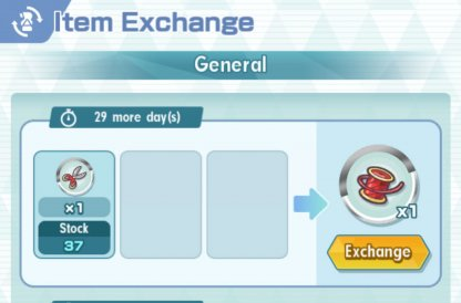 Time-Limited Gear Exchange