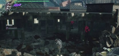 Devil May Cry 5 Gold Orb Location Mission 3 Destroyed Building With Red Orb Clusters