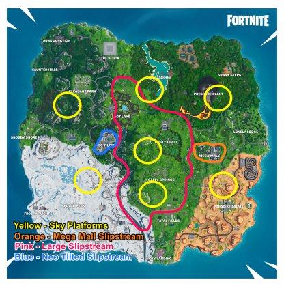 Slipstream All Location Map