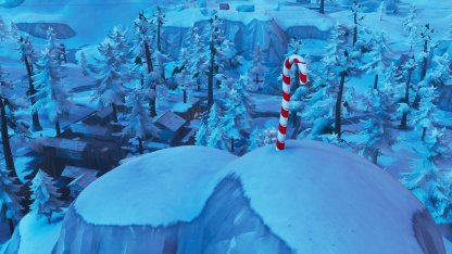 Candy Cane Locations Northeast of Shifty Shafts