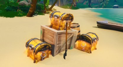 Search Chests at Lazy Lagoon or Happy Hamlet - Week 8 Challenges