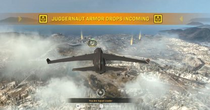 Juggernaut drops can be seen from the start